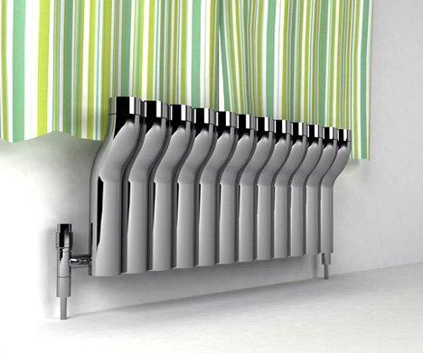 Биметаллический радиатор нестандартной формы