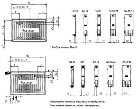 Конструкция стальных радиаторов отопления