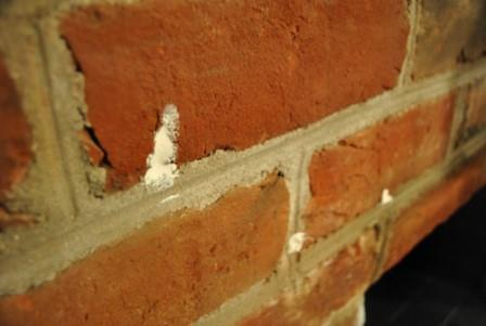 Кирпичная стена печи-малютки