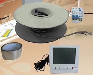 монтаж нагревательного электрического кабеля по системе