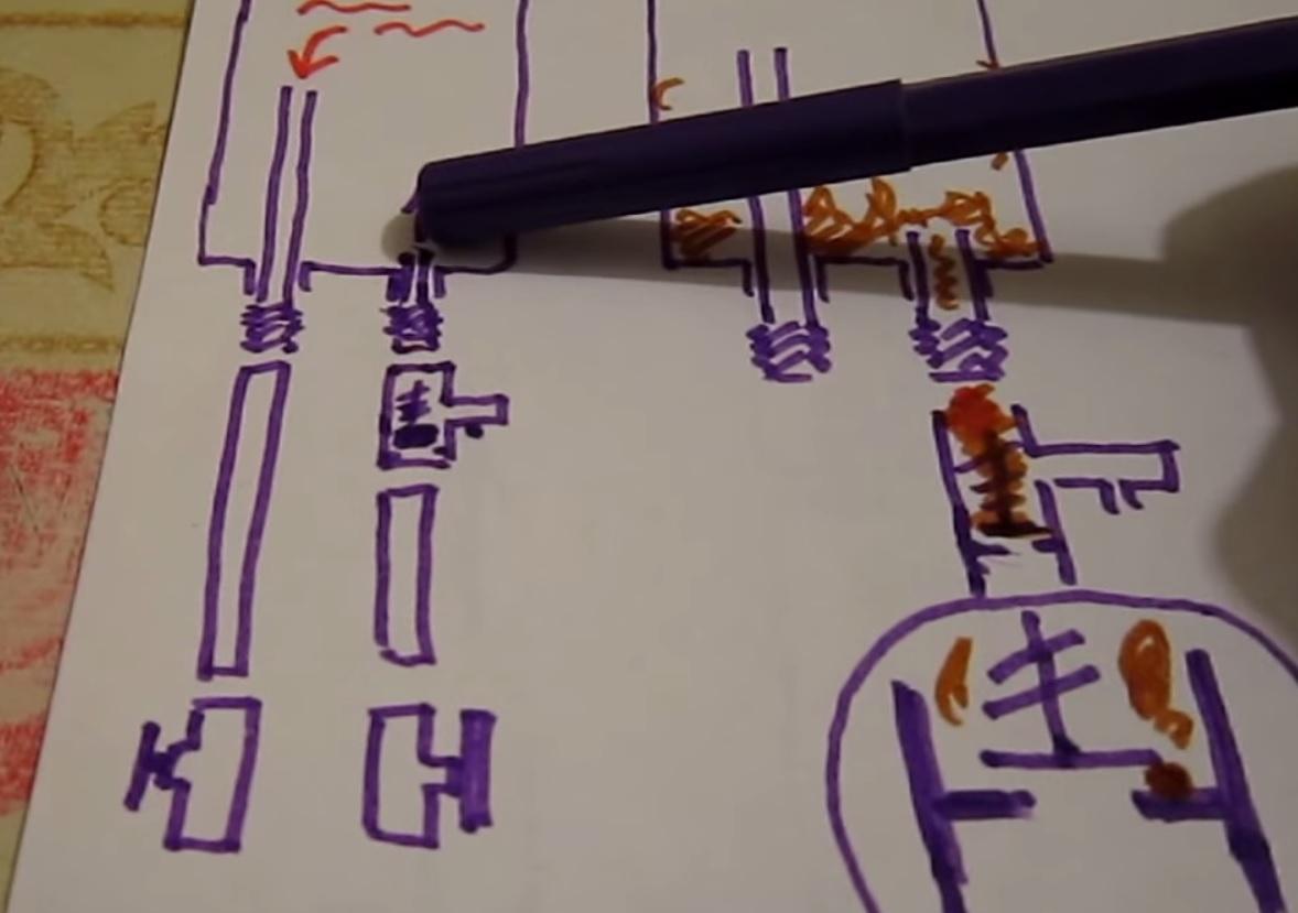 Схема устройства бойлера в помещении
