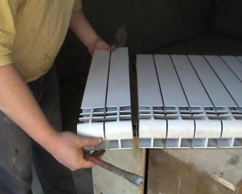 Разборка алюминиего радиатора