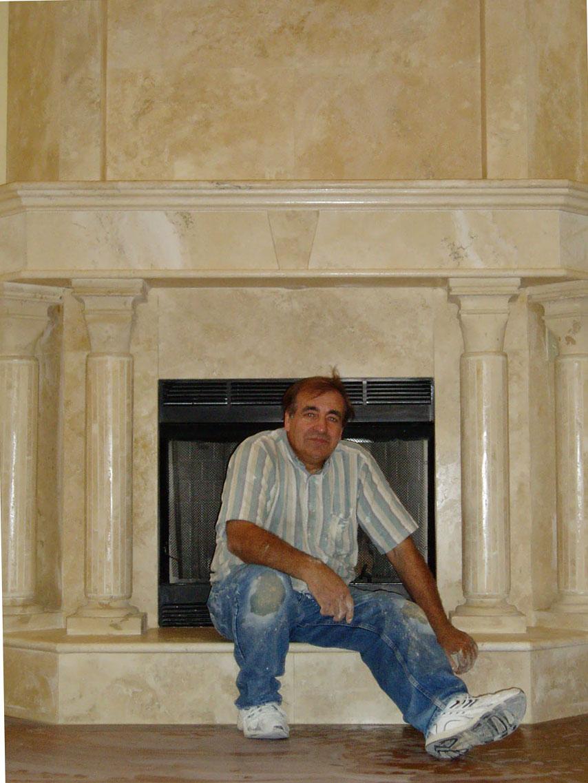 Мраморный камин своими руками