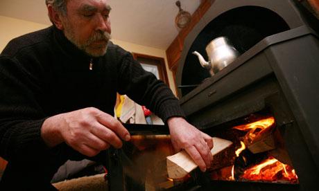 древесная отопительная печь длительного горения