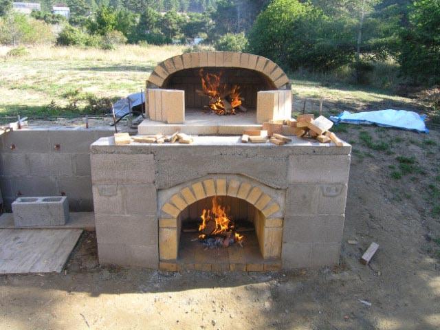 Уличная печь в стиле помпейской печи