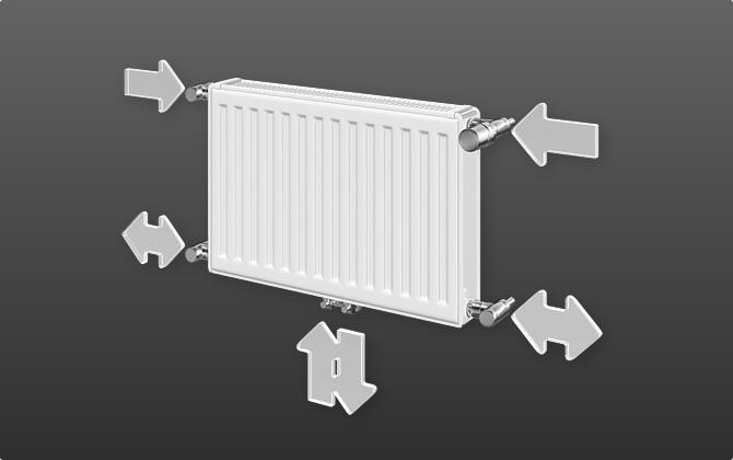 Узлы подключения радиаторов отопления