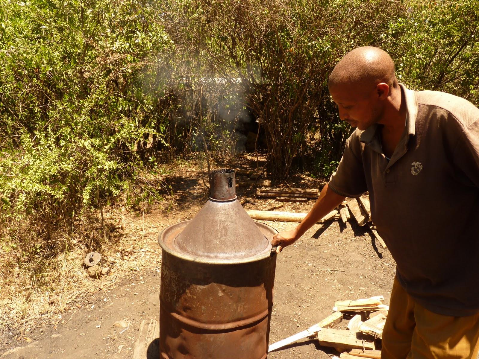 Углевыжигательная печь собственными руками