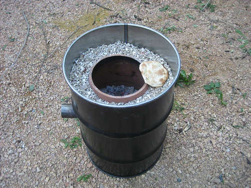 Печка из бочки