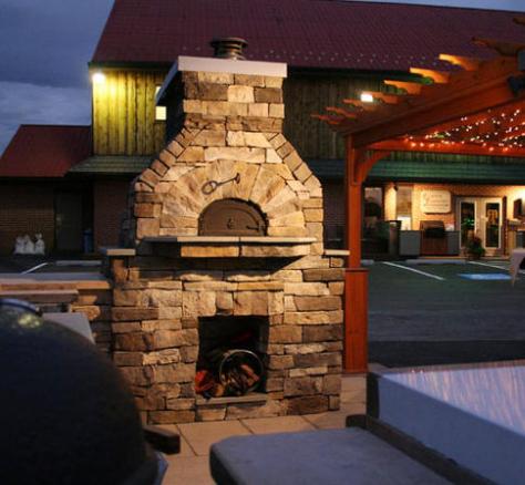 Камин-печь из кирпича