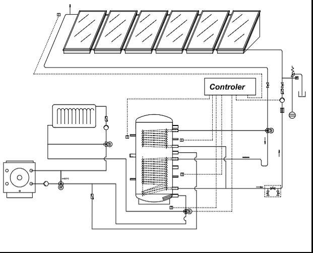 Монтаж бойлера косвенного нагрева на схеме