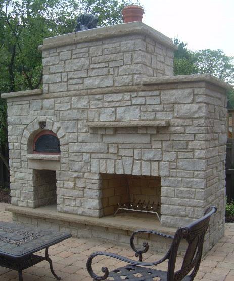 Уличная печь камин