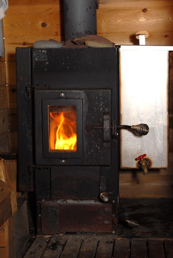 металлическая печь в баню