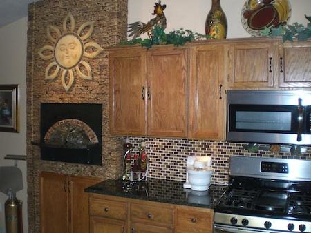 Малютка печь на кухне