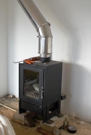 Дымоход для буржуйки в гараже