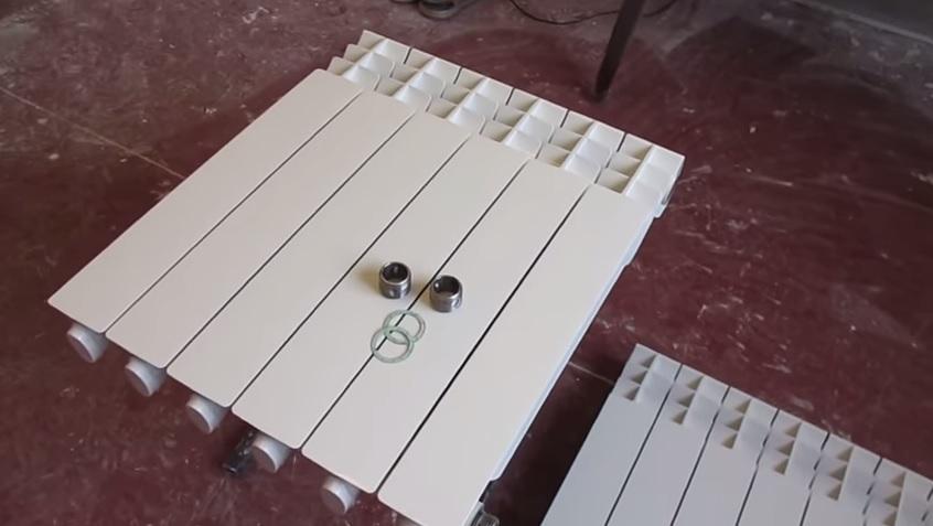 Сборка алюминиевого радиатора дома